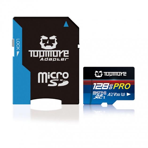 MicroSDXC UHS-I U3 A2 V30 Class 10 PRO Memory Card 1